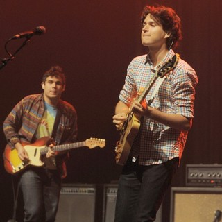 Rostam Batmanglij, Ezra Koenig, Vampire Weekend in Vampire Weekend Perform at Fillmore Miami Beach
