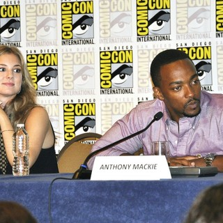 Emily VanCamp, Anthony Mackie in Comic-Con International 2013 - Captain America: The Winter Soldier - Press Conference