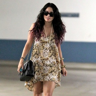 Vanessa Hudgens in Vanessa Hudgens Arrives at Her Office