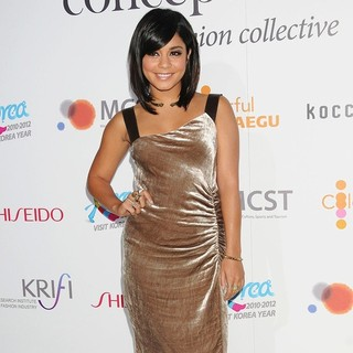 Vanessa Hudgens in Mercedes-Benz New York Fashion Week Spring-Summer 2012 - Concept Korea IV - Backstage