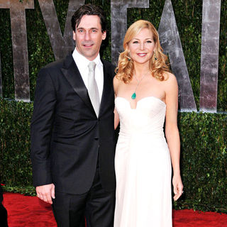 Jon Hamm, Jennifer Westfeldt in The 82nd Annual Academy Awards (Oscars) - Vanity Fair Party - Arrivals