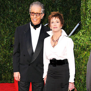 Jane Fonda, Richard Perry in The 82nd Annual Academy Awards (Oscars) - Vanity Fair Party - Arrivals
