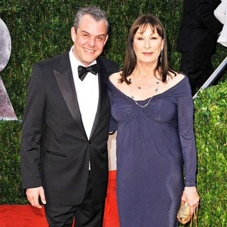 Anjelica Huston, Danny Huston in The 82nd Annual Academy Awards (Oscars) - Vanity Fair Party - Arrivals