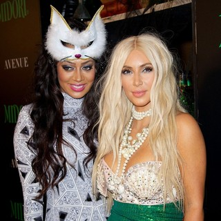 La La Vazquez, Kim Kardashian in La La Vazquez and Kim Kardashian Attend The Midori Halloween Party