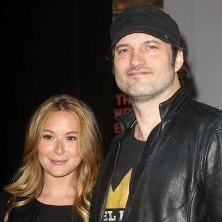 Alexa Vega, Robert Rodriguez in Dark Shadows Premiere