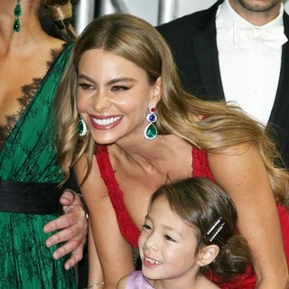 Sofia Vergara, Aubrey Anderson-Emmons in 65th Annual Primetime Emmy Awards - Press Room