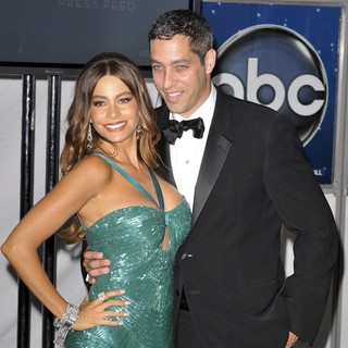 Sofia Vergara, Nick Loeb in 64th Annual Primetime Emmy Awards - Press Room