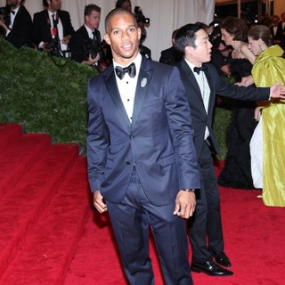 Victor Cruz in Schiaparelli and Prada Impossible Conversations Costume Institute Gala