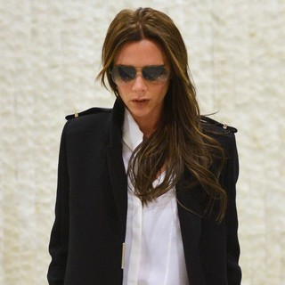 Victoria Adams in Victoria Beckham Arrives at JFK Airport