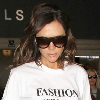 Victoria Adams-Victoria Beckham Arrives at Los Angeles International Airport