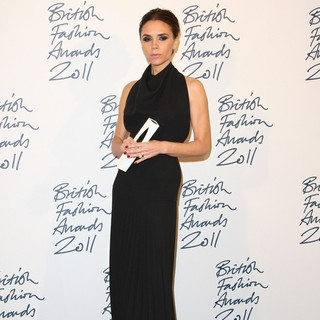 Victoria Adams in British Fashion Awards 2011 - Press Room