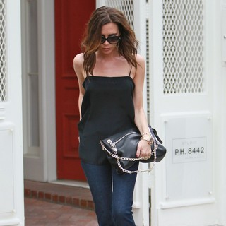 Victoria Adams in Victoria Beckham Seen Shopping at Melrose Place