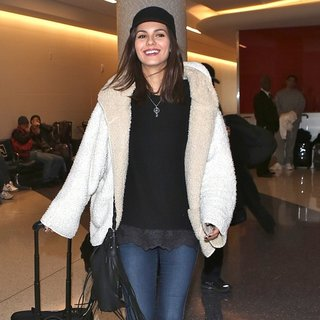 Victoria Justice Departs from Los Angeles International Airport
