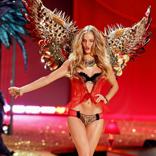 Rosie Huntington-Whiteley in 2010 Victoria Secret Fashion Show