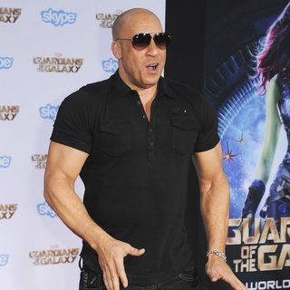 Vin Diesel in Film Premiere of Guardians of the Galaxy