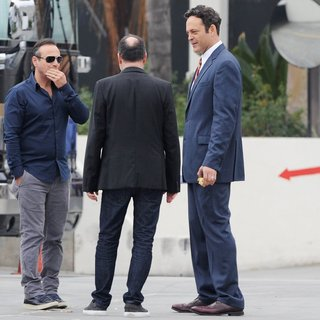 Vince Vaughn - On The Set of Unfinished Business Filming