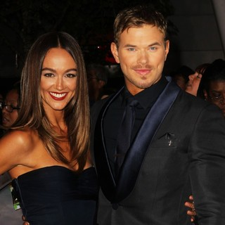 Sharni Vinson, Kellan Lutz in The Premiere of The Twilight Saga's Breaking Dawn Part II