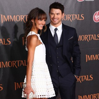 Sharni Vinson, Kellan Lutz in Immortals 3D Los Angeles Premiere