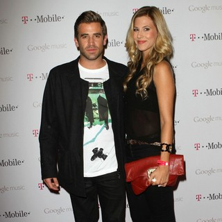 Jason Wahler, Ashley Slack in Celebrity Magenta Carpet Arrivals at The Launch Party for Google Music Available on T-Mobile