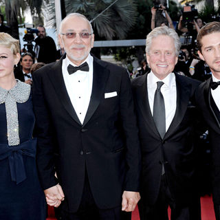 Carey Mulligan, Frank Langella, Michael Douglas, Shia LaBeouf in 2010 Cannes International Film Festival - Day 3 - 'Wall Street 2: Money Never Sleeps' Premiere