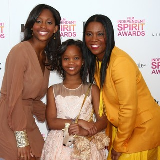 Qunyquekya Wallis, Quvenzhane Wallis, Qulyndreia Wallis in 2013 Film Independent Spirit Awards - Arrivals