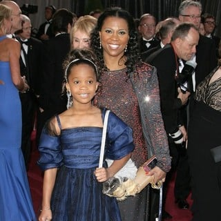 Quvenzhane Wallis, Qulyndreia Wallis in The 85th Annual Oscars - Red Carpet Arrivals