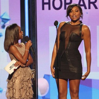 Quvenzhane Wallis, Taraji P. Henson in The 2013 BET Awards - Inside