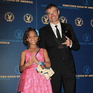 Quvenzhane Wallis, Paul Hoen in 65th Annual Directors Guild of America Awards - Press Room