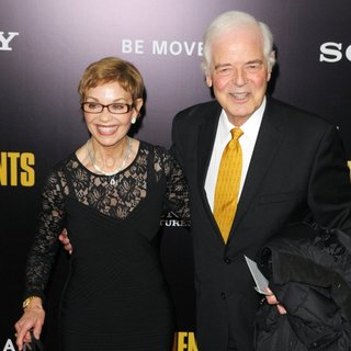 Nina Bruce Warren, Nick Clooney in New York Premiere of The Monuments Men - Inside Arrivals