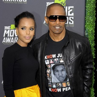 Kerry Washington, Jamie Foxx in 2013 MTV Movie Awards - Arrivals