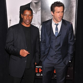 Denzel Washington, Ryan Reynolds in The Safe House Premiere - Arrivals