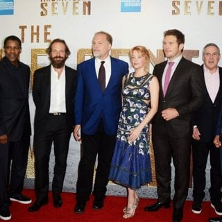 Denzel Washington, Peter Sarsgaard, Vincent D'Onofrio, Haley Bennett, Chris Pratt, Martin Sensmeier, Ethan Hawke in The Magnificent Seven New York Premiere - Red Carpet Arrivals