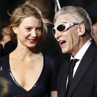 Mia Wasikowska, David Cronenberg in The 67th Annual Cannes Film Festival - Maps to the Stars - Premiere Arrivals