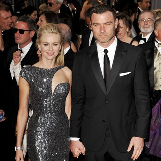 Naomi Watts, Liev Schreiber in The 85th Annual Oscars - Red Carpet Arrivals