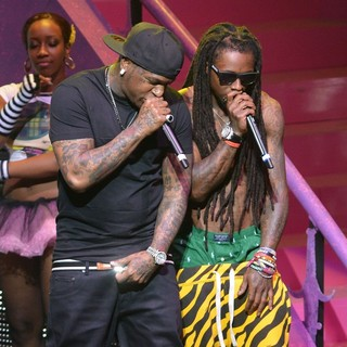 Birdman, Lil Wayne in Lil Wayne and Birdman Performing Live on The Nicki Minaj Tour