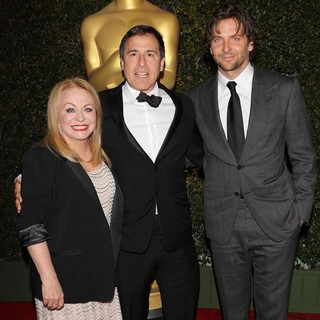 Jacki Weaver, David O. Russell, Bradley Cooper in The Academy of Motion Pictures Arts and Sciences' 4th Annual Governors Awards - Arrivals