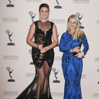 Courtney Webster, Marina Toybina in 2013 Primetime Creative Arts Emmy Awards - Press Room
