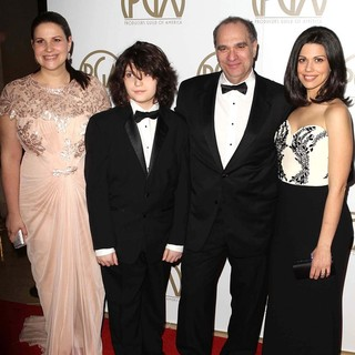 Max Weinstein, Bob Weinstein, Annie Clayton in 24th Annual Producers Guild Awards - Arrivals