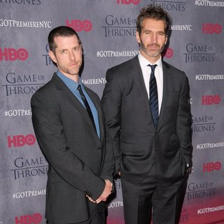 Dan Weiss, David Benioff in New York Premiere of The Fourth Season of Game of Thrones - Red Carpet Arrivals