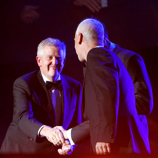Colin Montgomerie, Corey Pavin in 'Welcome To Wales' Concert Celebrating The Ryder Cup being Staged in Wales for The First Time