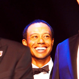 Tiger Woods in 'Welcome To Wales' Concert Celebrating The Ryder Cup being Staged in Wales for The First Time
