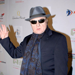 Van Morrison in Van Morrison arrives at the US-Ireland Alliance event honoring him