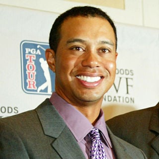Tiger Woods in Press conference announcing their last minute deal to bring the Tiger Woods Foundation tournament