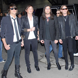 Kings of Leon in Kings of Leon leaving the Ed Sullivan Theatre after appearing on 'The Late Show with David Letterman