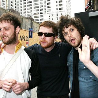 The Fratellis in The Fratellis arriving at the Ed Sullivan Theatre to appear on 'The Late Show With David Letterman'