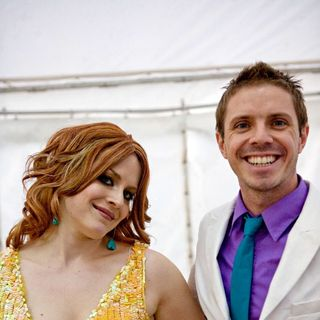 Ana Matronic, Jake Shears, Scissor Sisters in Backstage at Oxegen Festival