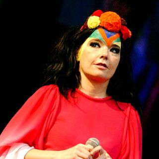 Bjork in Bjork performing in concert at the Westerpark