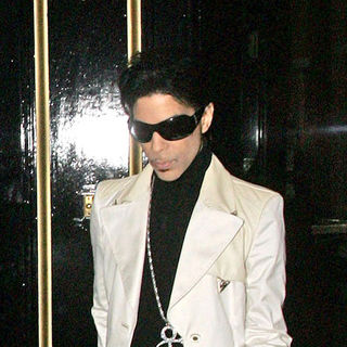 Prince in Prince leaving the Dorchester hotel