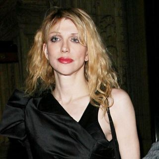 Courtney Love in Swarovski Fashion Rocks - Departures