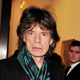 Mick Jagger in Mick Jagger attends the launch of the new John Currin exhibition